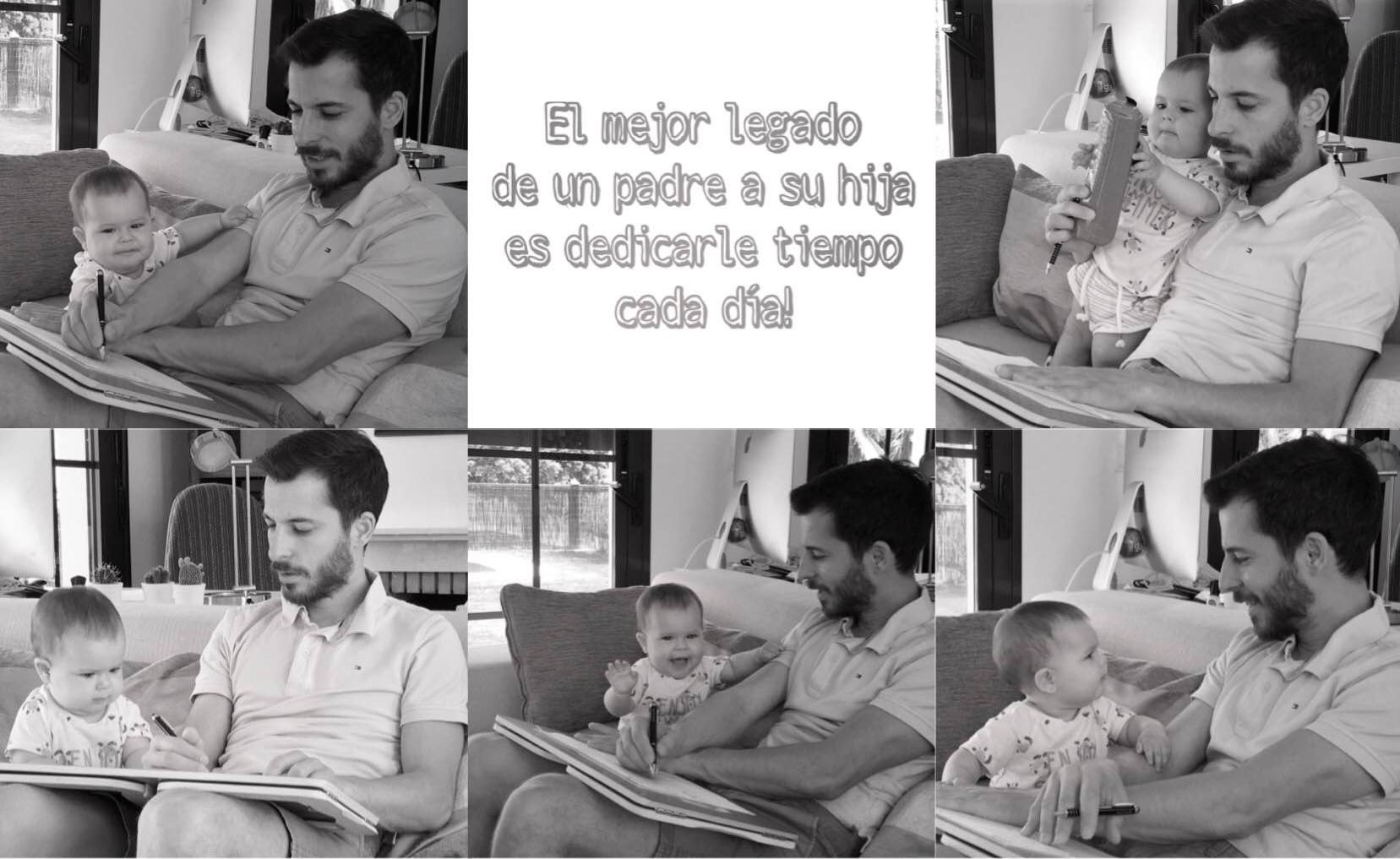 Alejandro jugando con su bebe
