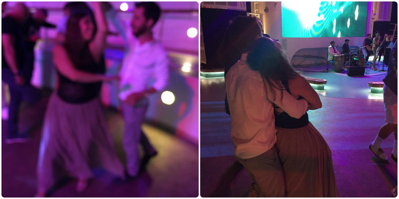 bailando seneida y alejandro