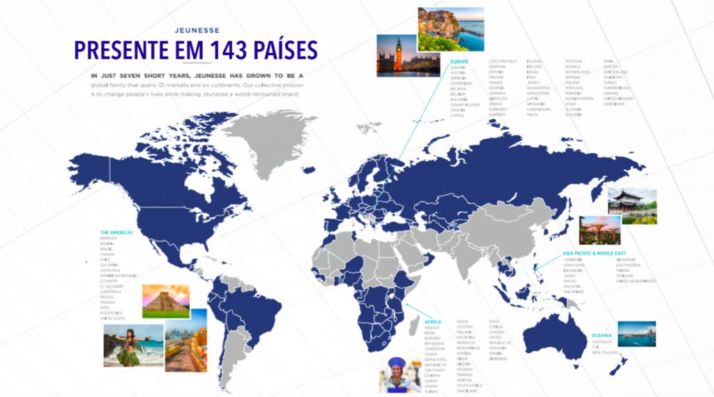 Presente em 143 Países